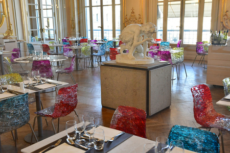 Paris; France - september 30 2018 : restaurant in the Orsay museum of Impressionism and post Impressionism created in 1986