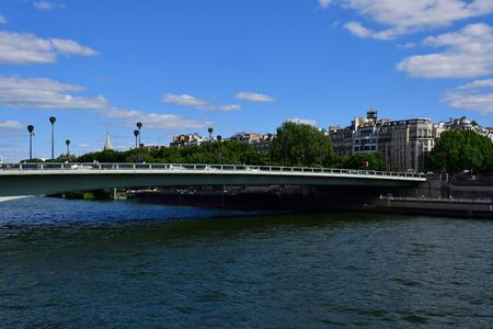 Paris; France - may 5 2017 : the Alma bridge