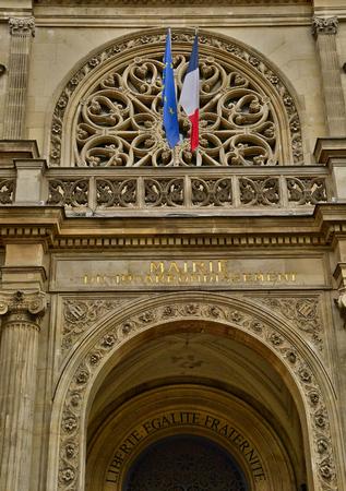 Paris; France - april 2 2017 : the city hall of the 1 st arrondissement