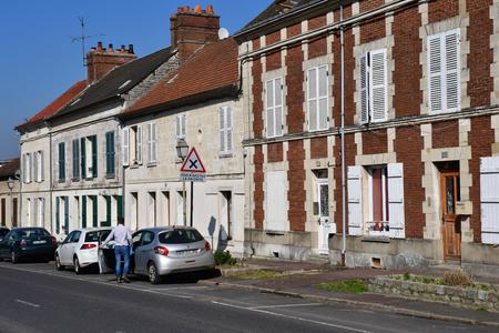 Magny en Vexin , France - march 16 2017 : the city center