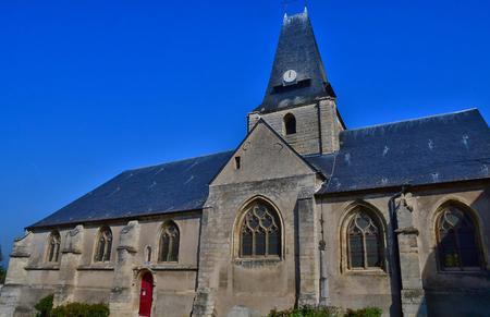 Boury en Vexin, France - april 3 2017 : the Saint Germain church
