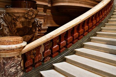 Paris; France - august 4 2018 : stairs of the Opera de Paris