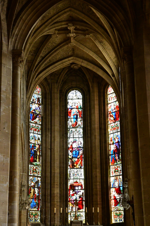 Magny en Vexin , France - august 8 2018 : the Notre Dame church