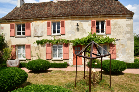 Wy dit joli village , France - july 27 2018 : the Claude Pigeard tool museum 스톡 콘텐츠