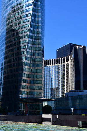 Paris La Defense; France - may 25 2017 : La Defense district, the biggest business distric in Europe