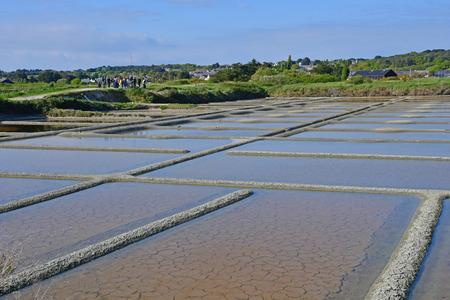 Guerande, France - april 14 2017 : landscape of the salt marshes