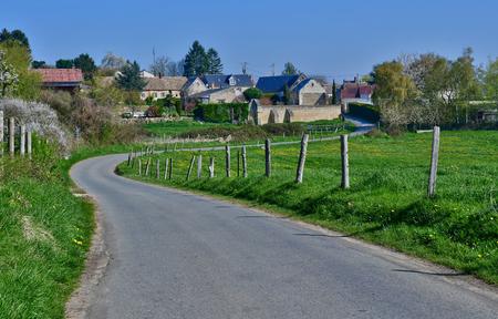Montjavoult, France - april 3 2017 : the picturesque village in spring