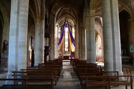 Magny en Vexin; France - april 3 2017 : the renaissance Notre Dame church Sajtókép