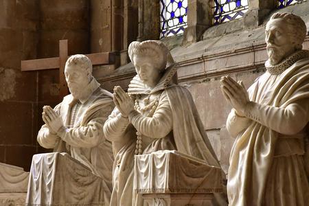 Magny en Vexin , France - august 8 2018 : the Notre Dame church Sajtókép