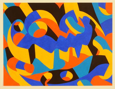 Paris; France - april 2 2015 : modern picture at an exhibition