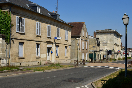 Magny en Vexin , France - august 8 2018 : the city center