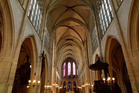 Paris; France - april 2 2017 : the Saint Germain l Auxerrois church in the 1 st arrondissement, built in the 13th century Banque d'images