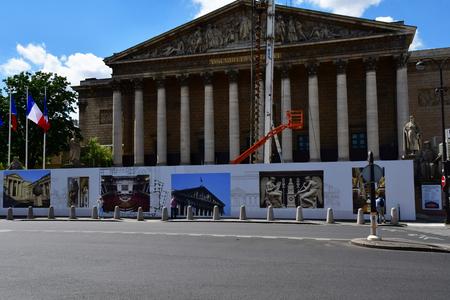 Paris; France - april 2 2017 : the Assemblee Nationale in the Palais Bourbon