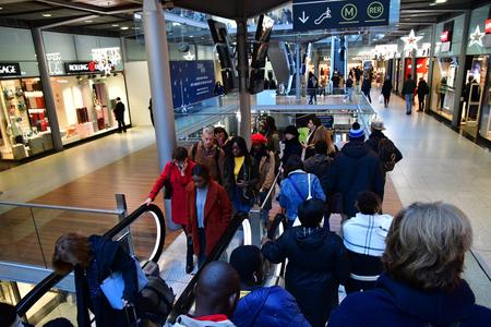 Paris; France - november 30 2018 : shop in the Paris Saint Lazare station