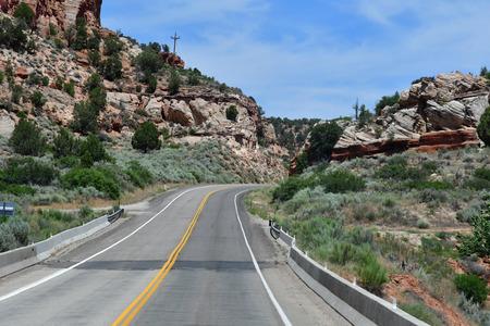 Kanab, Utah, USA - july 9  2016 : the road between Kanab and Bryce Canyon park