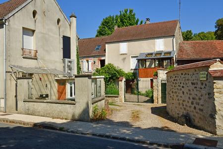 Rueil,Seraincourt , France - august 6 2018 : the picturesque village