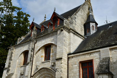 Jumieges; France - september 9 2018 : entrance building of the Saint Pierre benedictine abbey