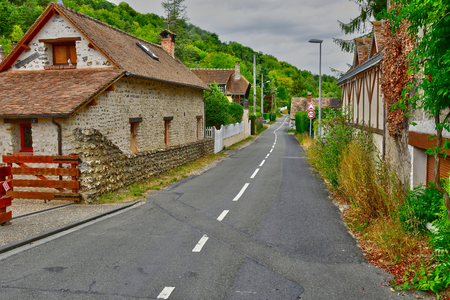 Fontaine sous Jouy; France - august 8 2018 : the picturesque village