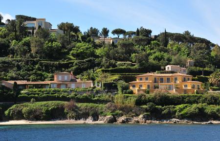 Saint Tropez; France - april 18 2016 : house of stars in the picturesque seaside in spring Reklamní fotografie