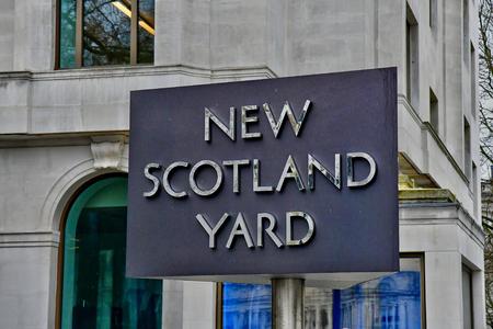 London, England - march 12 2018 : the New Scotland Yard