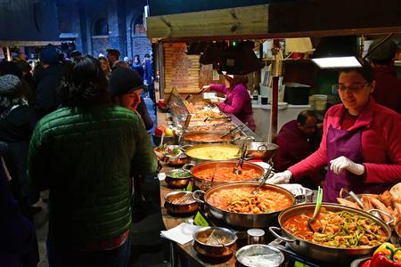 London, England - december 23 2017 : restaurant in the Camden market