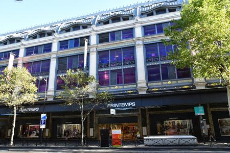 Paris; France - august2 2018 : the famous department store, Le Printemps Sajtókép