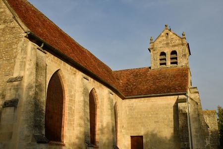 Wy dit joli village, France - may 4 2018 : the church 에디토리얼