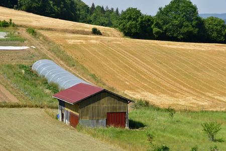 Vienne en Arthies , France - july 27 2018 : the picturesque landscape