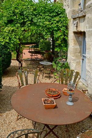 Wy dit joli village , France - july 27 2018 : the Claude Pigeard tool museum 에디토리얼