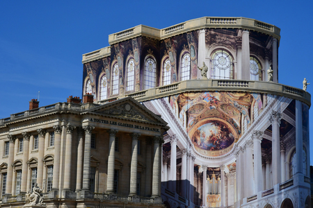 Versailles, France - september 2 2018 : restoration of the chapel in the Louis 14 palace Sajtókép