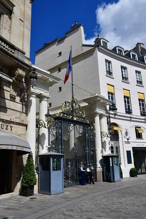 Paris; France - april 2 2017 : the Place Beauvau