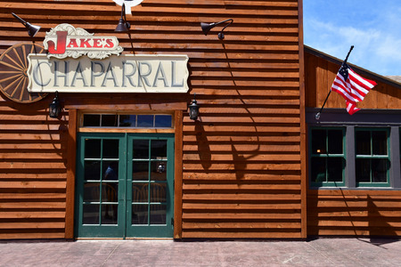 Kanab, Utah, USA - july 9  2016 : the picturesque Jake Chaparral restaurant