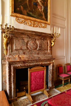 Versailles; France - october 14 2018 : malachite room in the Grand Trianon
