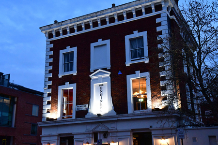 London; England - november 25 2018 : The Engineer pub in Primrose Hill in the Camden district