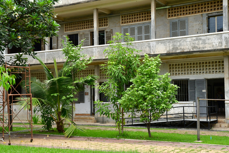 Phnom Penh; Kingdom of Cambodia - august 20 2018 : Security prison 21, Tuol Sleng genocide museum