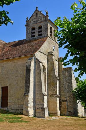 Wy dit joli village; France - december 21 2015 : the Notre Dame and Saint Romain church