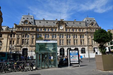 Paris; France - april 2 2018 : the Saint Lazare train station Editöryel