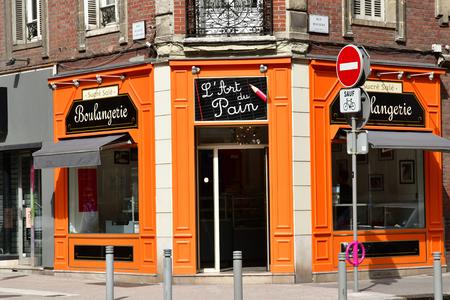 Rouen, France - september 9 2018 : art of bread bakery in the historical city Editöryel