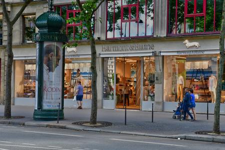 Paris; France - april 2 2017 : cloth shop in Le boulevard des Capucines