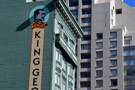 San Francisco; USA - july 13 2016 : king George hotel in the city center Editöryel