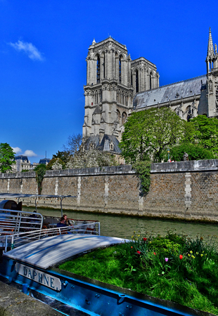 Paris; France - april 2 2017 : the notre dame cathedral