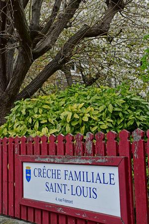 Poissy; France - april 7 2019 : creche in the city centre Editorial