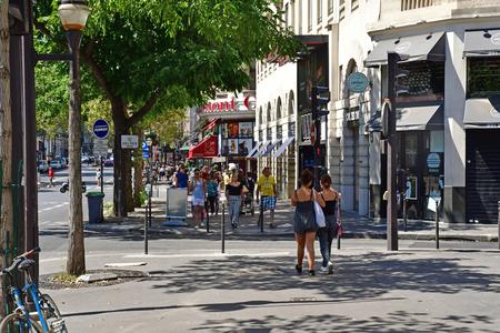 Paris; France - april 2 2017 : the boulevard des Italiens