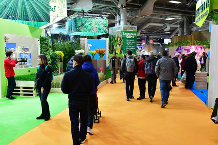 Paris; France - february 24 2019 : food at the Paris International agricultural show, the largest and important one in Europe