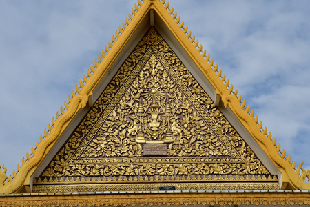 Phnom Penh; Kingdom of Cambodia - august 20 2018 : the Royal Palace Editöryel