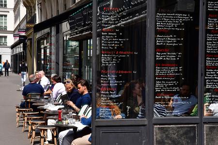 Paris; France - april 2 2017 : cafe on the Place de la Madeleine Editöryel
