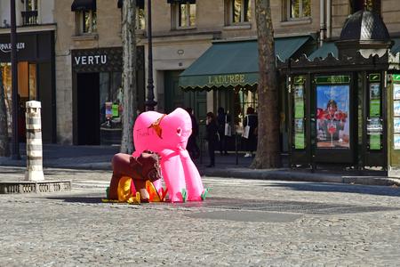 Paris; France - september 30 2018 : the Madeleine district