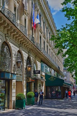 Paris; France - april 2 2017 : Le boulevard des Capucines