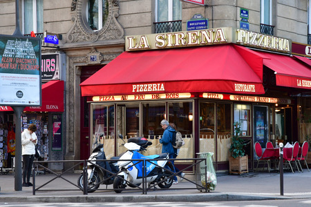 Paris; France - april 2 2017 : the Notre Dame district Editorial