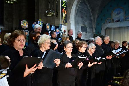 Les Mureaux, France - december 13 2018 : a choir in Saint Pierre Saint Paul church